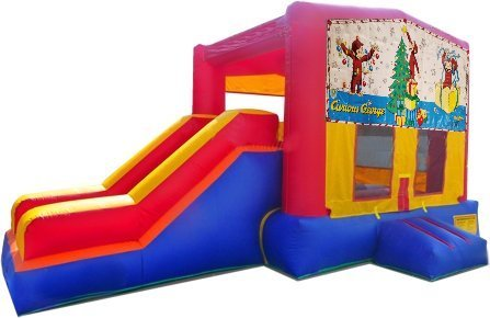 z Curious George Christmas Playtime Jump and Side Slide - Medium