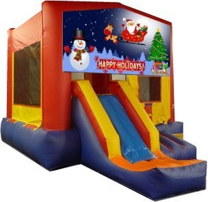 z Happy Holidays Partytime Jump and Front Slide - Large