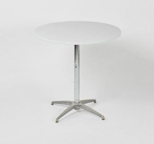 Plastic Fitted Table Covers - 36 Inch Cocktail White