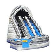 20' High Wild Rapids Dual Water Slide with Pool - Grey