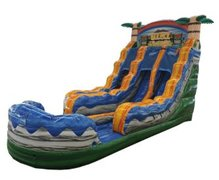 18' High Tiki Plunge Dual Lane Water Slide