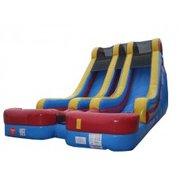 18' High Double Rush Dual Lane Water Slide