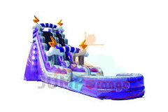 19' High Purple Thunder Water Slide