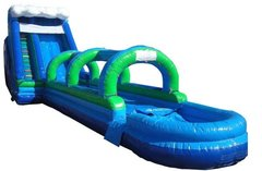 20' High Water Slide with Slip and Dip