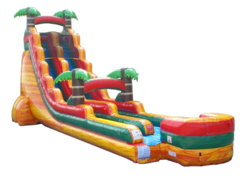 22' High Orange Crush Tropical Slide w/ Slip and Slide