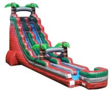 22' High Red Lava Tropical Slide w/ Slip and Slide