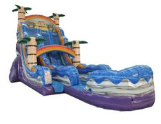 22' High Tiki Plunge Dual Lane Water Slide