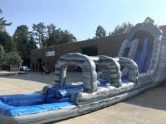 24' High Roaring River Dual Water Slide with Slip n Slide