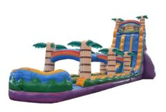 27' High Huge Tiki Plunge Dual Lane Water Slide with Slip and Slide