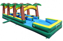 32' Long Tropical Dual Slip and Slide with Pool