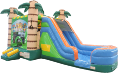 Tiki Bounce and Water Slide