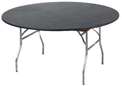 Plastic Fitted Table Covers - 60 Inch Round Black