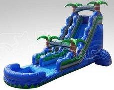 22' High Blue Water Rush Water Slide