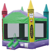 Colorful Crayon Bounce House - Large