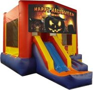 Happy Halloween Pumpkin Partytime Jump and Front Slide - Large