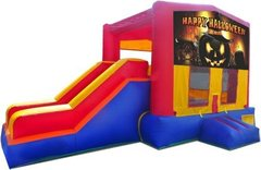 Happy Halloween Pumpkin Partytime Jump and Side Slide - Large