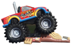 Huge Monster Truck Bounce and Slide 3D