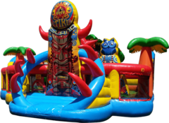 Huge Tiki Island Playground