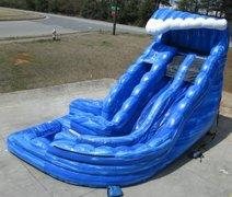 18' High Wild Wave Two Lane Water Slide with Pool