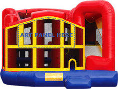 Themed  Premiere 5-in-1 Extra Large Combination Bounce, Slide and Play Ride