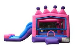 Princess Tiara Bounce and Water Slide