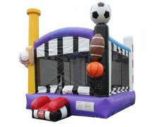 Sports Deluxe Bounce House with Hoop - Large
