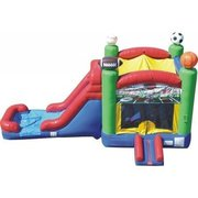 Sports Theme Bounce and Water Slide Combo