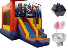 Superhero Theme Jump and Slide Party Package