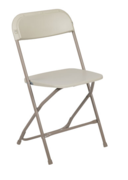 Chairs - Beige Plastic Folding (TCBSC)