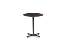 Plastic Fitted Table Covers - 30 Inch Cocktail Black