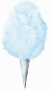 Cotton Candy Supplies - 25 servings of blue