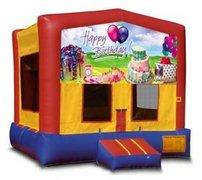 Happy Birthday Cake Partytime Bouncer - Large