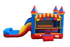 Circus Castle Bounce, Climb, and Water Slide