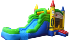 Crayon Combination Jump, Water Slide and Play