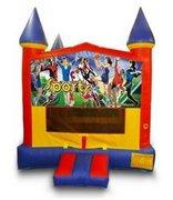 Girls Sports Castle Bouncer - Medium