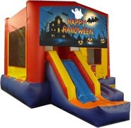 Happy Halloween Ghost Partytime Jump and Front Slide - Large