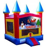 Happy Holidays Castle Bouncer - Medium