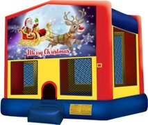 Merry Christmas Santa and Rudolph Playtime Bouncer - Medium