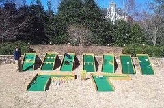 Mini Golf Game Nine Holes