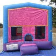 Pink Playtime Bounce House w/Hoop - Medium (M13021)