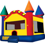 Rainbow Castle Bounce House - Medium