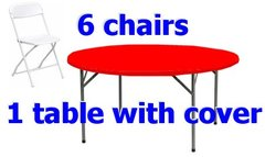 "60"" Round Table Chair Cover Party Package"