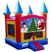 Santa and Snowman Castle Bouncer - Medium