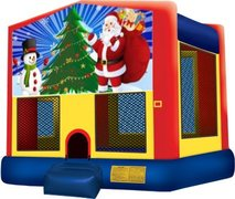 Santa and Snowman Playtime Bouncer - Medium