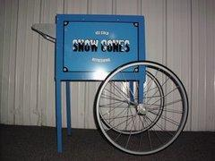 Large Blue Snow Cone Cart