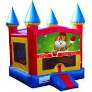 Snowman Castle Bouncer - Medium