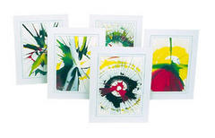 Spin Art Cards and Materials