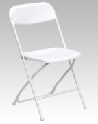 Chairs - White Plastic Folding