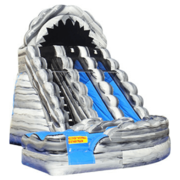 20' High Wild Rapids Dual Water Slide with Pool Grey