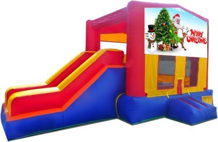 z Merry Christmas Partytime Jump and Side Slide - Large
